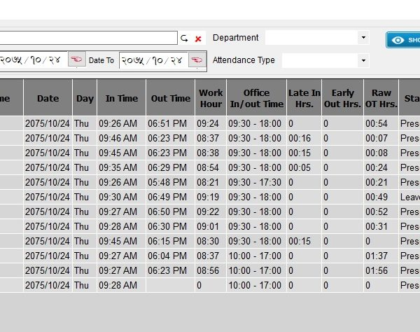 Nepali Attendance Software | Aarambha Solution